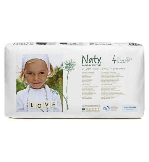 Naty by Nature Babycare Nappies 46 pack size 4