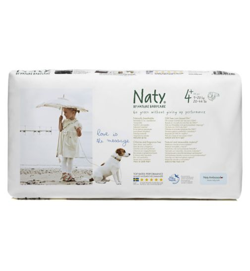 Naty by Nature Babycare Nappies 44 pack size 4+