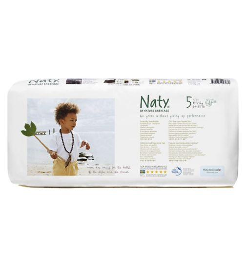 Naty by Nature Babycare Nappies 42 pack size 5