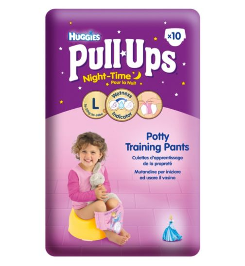 Huggies Pull-Ups Disney Princess Night-Time Girls Size 6 Potty Training Pants - 1 x 10 Pants