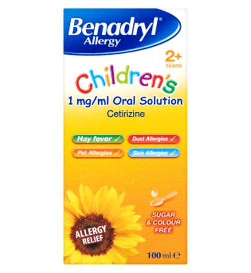 Benadryl Allergy Children's 1mg/ml Oral Solution - 100ml