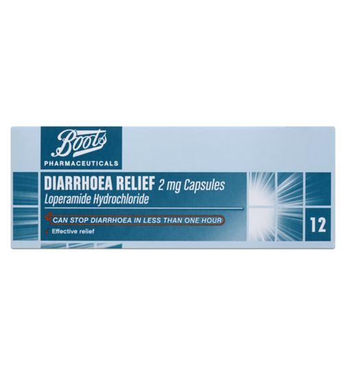 Boots Pharmaceuticals Diarrhoea Relief 2mg Capsules - 12 Capsules