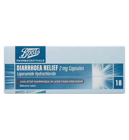 Boots Pharmaceuticals Diarrhoea Relief 2mg Capsules - 18 Capsules