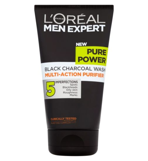 L'Oréal Men Expert Pure Power Black Charcoal Wash Multi-Action Purifier 150ml