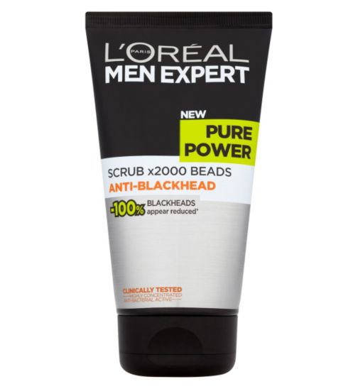L'Oréal Paris Men Expert Pure Power Scrub x2000 Beads Anti-Blackhead 150ml