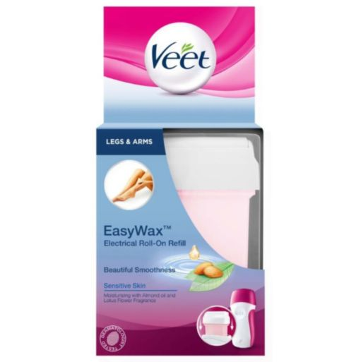Veet EasyWax Electrical Roll-On Refill Sensitive Skin Legs & Underarm 50ml