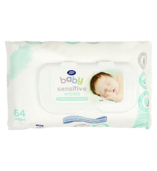 Boots Baby Sensitive Wipes 64 Pack