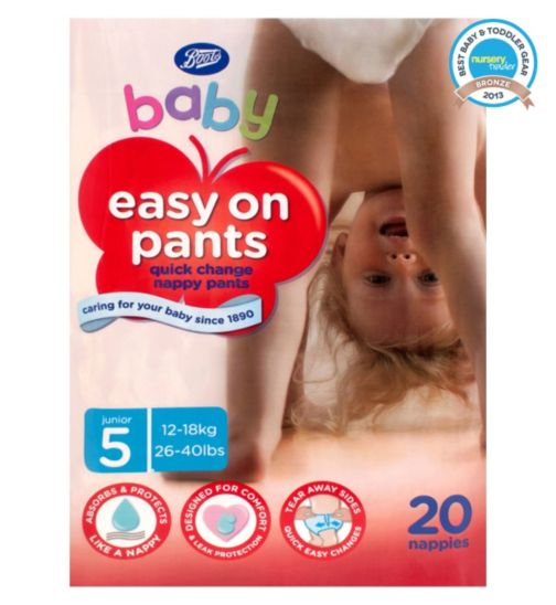 Boots Baby Easy On Potty Training Pants Size 5 Junior - 1 x 20 Pants