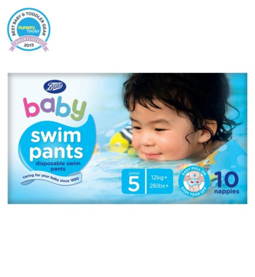 Boots Baby Swim Pants Size 5 Junior - 1 x 10 Pants