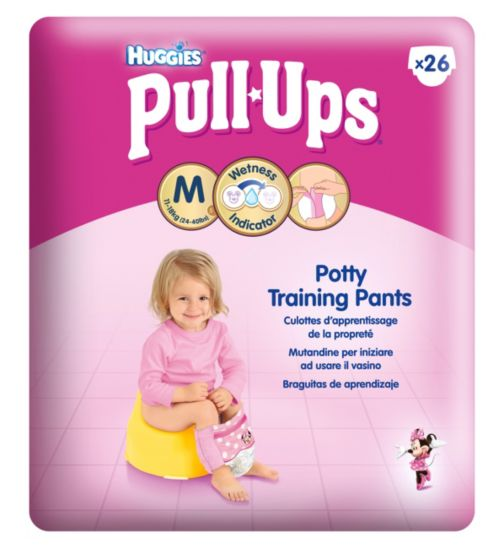 Huggies Pull-Ups Girls Economy Pack Size 5 Potty Training Pants 1 x 26 Pack