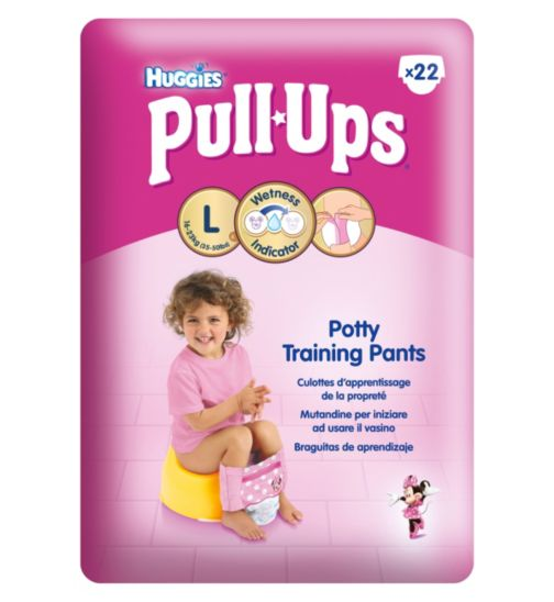 Huggies Pull-Ups Day Time Girls Size L (16-23kg, 24-40lbs) 22 Pants