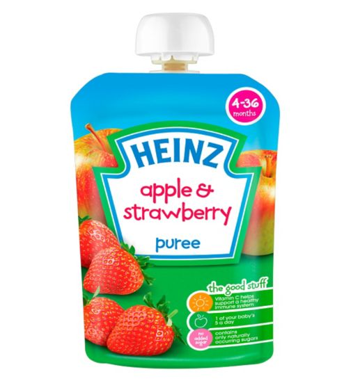 Heinz 4-36 Months Apple & Strawberry Puree 100g