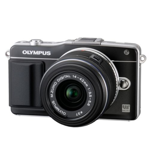Olympus Pen E-PM2 (16MP, 3x Optical Zoom, 3 inch Touch Screen LCD) Compact System Digital Camera - Black