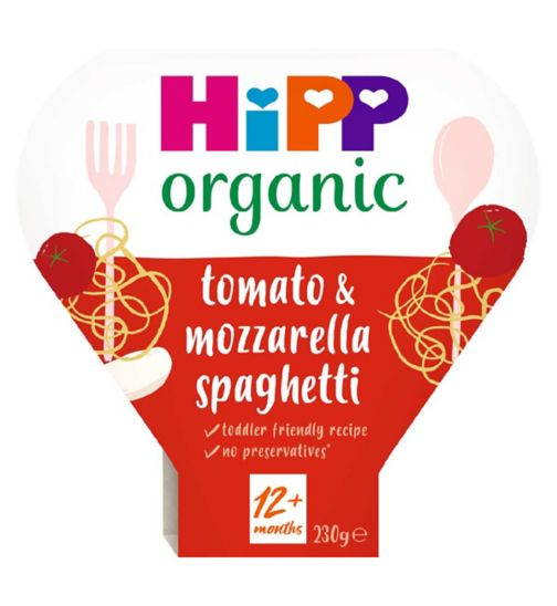 HiPP Organic Squiggly Spaghetti with Tasty Tomato & Mozzarella Sauce 1-3 Years 230g