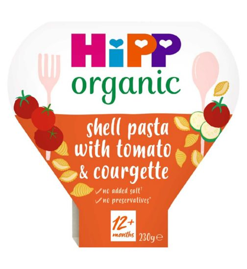 HiPP Organic Shell Pasta with Juicy Tomatoes & Courgettes 1-3 Years 230g