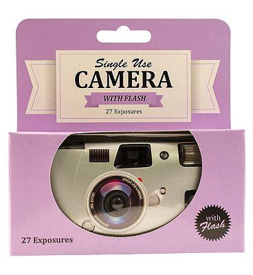 Disposable Camera 27 Exposure single use camera with flash  Black