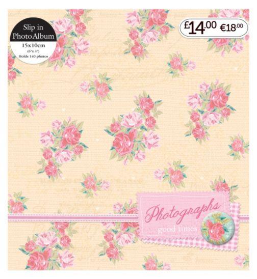 Pink & Cream Floral Slip In Photo Album 6x4 - 140 Photos