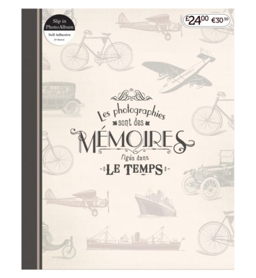 Travel Memories Self Adhesive Photo Album 7x5 - 25 Sheets
