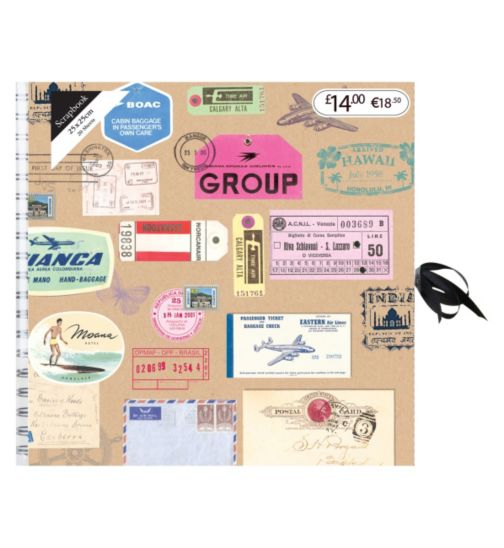 Travel Tickets Scrapbook Album - 20 Sheets