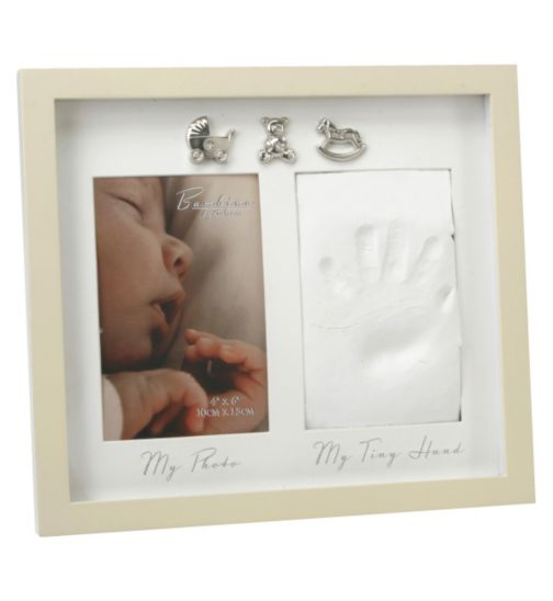 Baby Photo Frame with Hand Print - 4x6