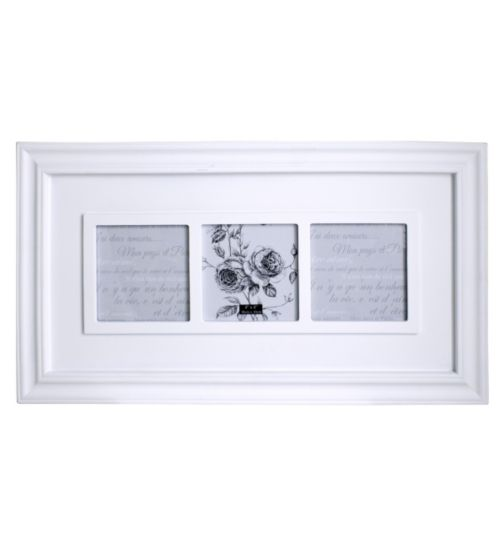 White Multi Aperture Photo Frame - 3 photographs