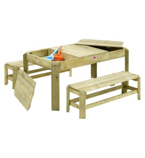 Plum Premium Wooden Activity Table and Benches