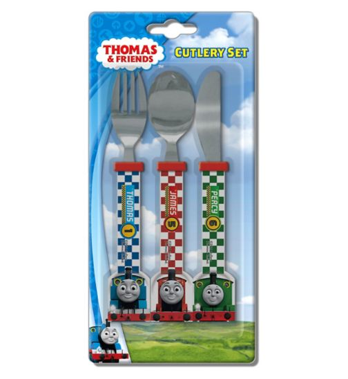 Spearmark Thomas The Tank Engine Go 3 Piece Cutlery Set