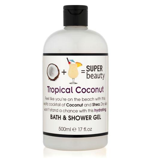 Super Beauty Tropical Coconut Bath & Shower Gel 500ml