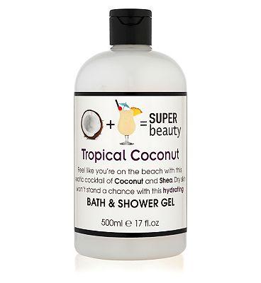 Super Beauty Coconut and Acai Bath & Shower Gel 500ml