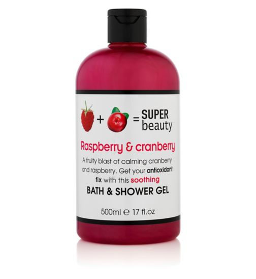 Super Beauty Raspberry and Cranberry Bath & Shower Gel 500ml