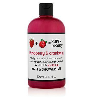 Super Beauty Raspberry and Cranberry Bath & Shower Gel 500ml