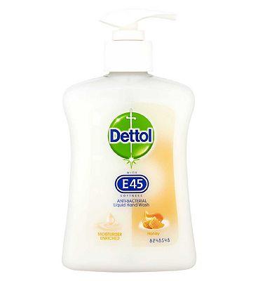 Dettol Anti-Bacterial Liquid Hand Wash with E45 Honey 250ml