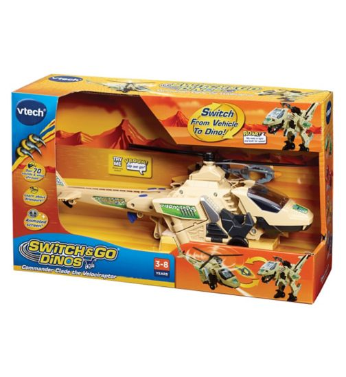 VTech Commander Clade the Velociraptor Helicopter