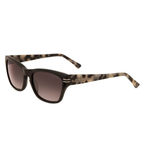 Nicole Farhi Women's Black Sunglasses - NFSUN3