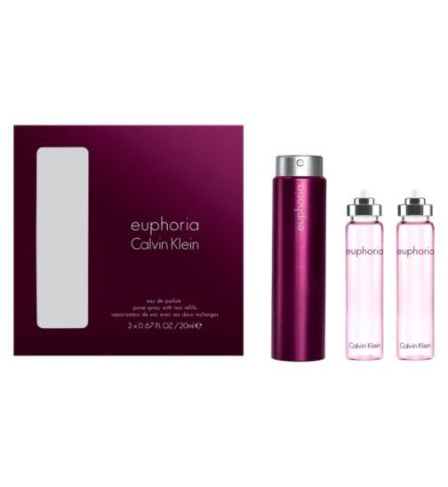 Calvin Klein Euphoria 20ml Purse Spray with 2 x 20ml refills