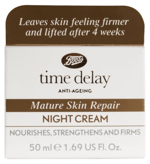 Boots Time Delay Mature Skin Night Cream 50ml