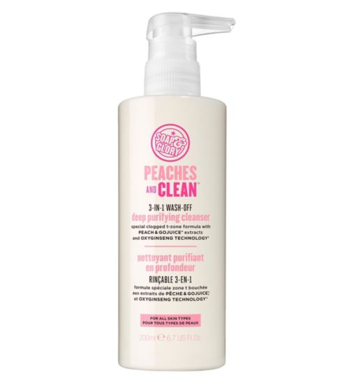 Soap & Glory™ Peaches and Clean™ 3-in-1 Wash-off Deep Purifying Cleanser 200ml