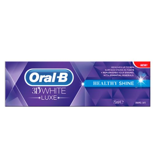 Oral-B 3DWhite Luxe Healthy Shine Toothpaste 75ml