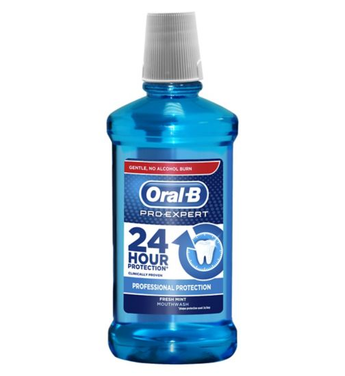 Oral-B Pro-Expert Mouthwash No Alcohol Fresh Mint 500 ml