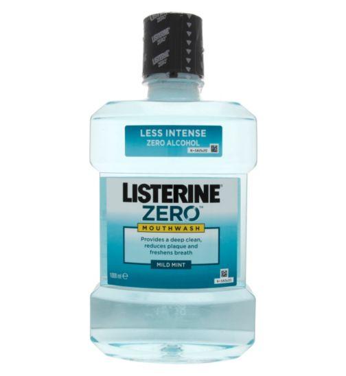 Listerine Zero Mouthwash Mild Mint 1000ml
