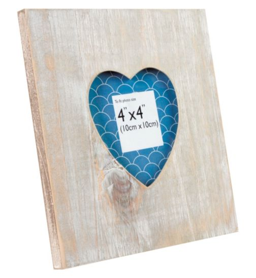 Wooden Heart Photo Frame - 4 x 4