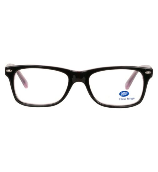 Boots Femme 3 Kids' Black Glasses - Free with an NHS voucher