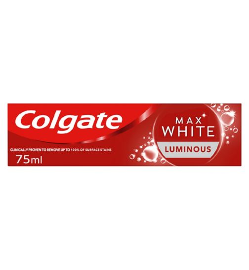 Colgate Max White Luminous Sparkling Mint Toothpaste 75ml