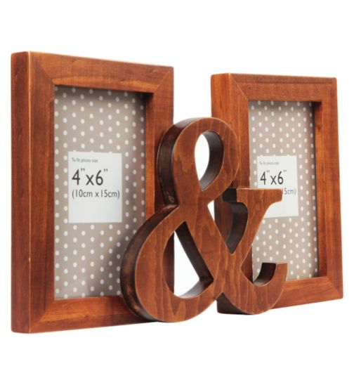Wooden Ampersand Photo Frame - 6 x 4
