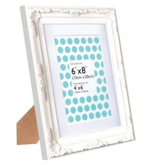Anker decorative white photo frame 4x6