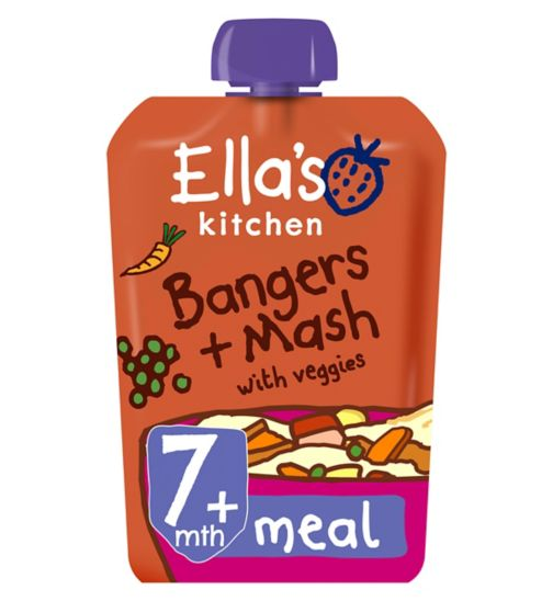 Ella's Kitchen Bang Bang Bangers + Mash with Veggies Stage 2 from 7 Months 130g