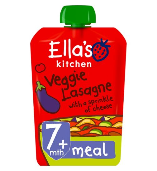 Ella's Kitchen Vroom Vroom Veggie Lasagne with a Sprinkle of Cheese Stage 2 from 7 Months 130g