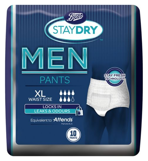 Boots Staydry Mens Extra Large Pants - 10 pack