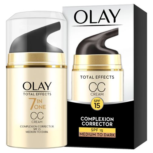 Olay Total Effects 7in1 CC Cream Moisturiser Medium To Dark 50ml