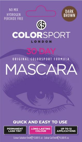 Colorsport 30 Day Mascara Dark Brown Eyelash & Brow Dye Kit